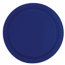 "Small Navy Blue Plates - 7"" Paper Plates (20pcs)"